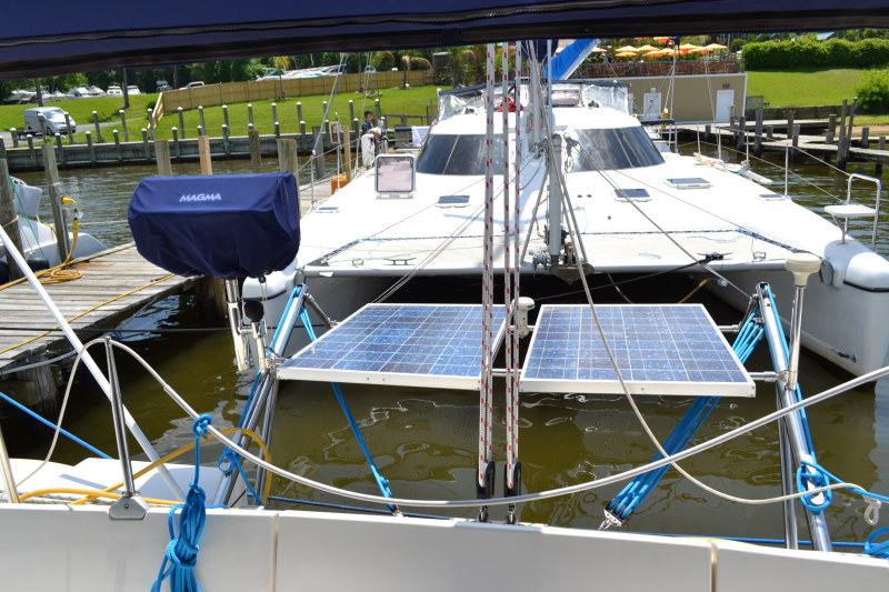 Used Sail Catamaran for Sale 1995 Athena 38 Deck & Equipment