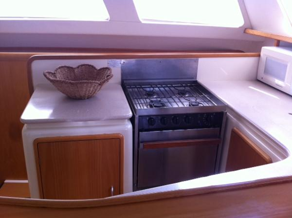 Preowned Sail Catamarans for Sale 2003 Leopard 47 Galley