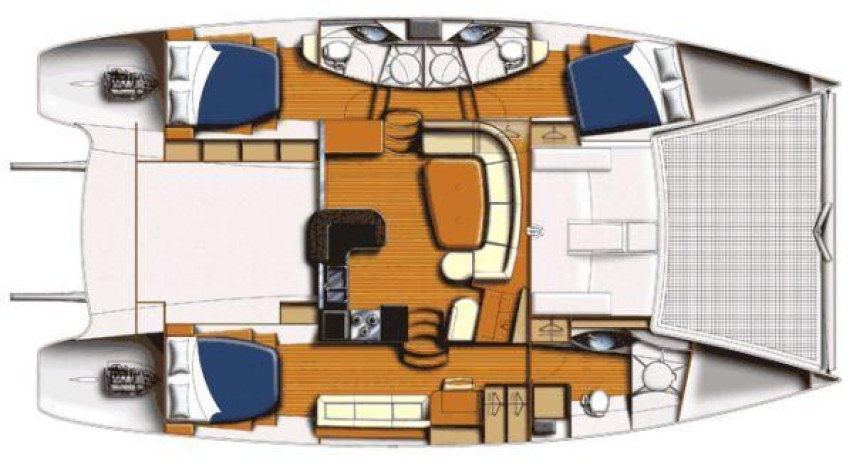 Preowned Sail Catamarans for Sale 2009 Leopard 46 Owners Version  Layout & Accommodations