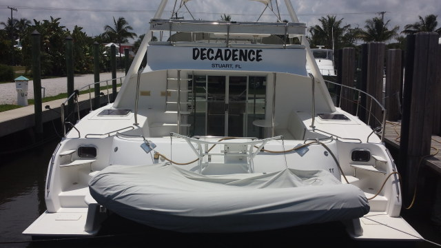 Preowned Power Catamarans for Sale 2002 Prowler 45 Deck & Equipment