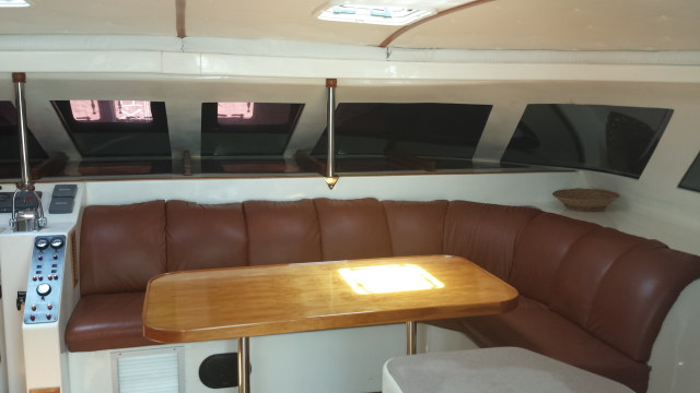 Preowned Power Catamarans for Sale 2002 Prowler 45 Layout & Accommodations