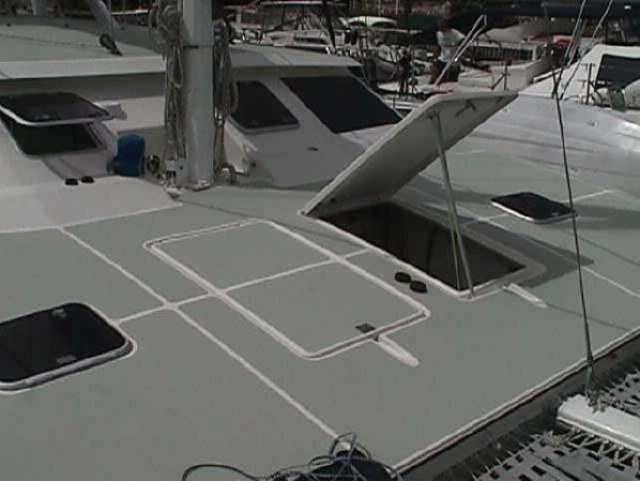 Preowned Sail Catamarans for Sale 1996 Mayotte 500 Deck & Equipment