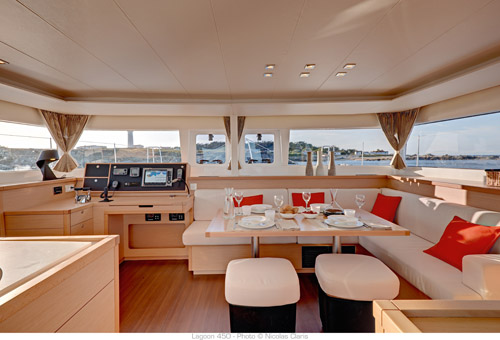 New Sail Catamaran for Sale 2016 Lagoon 450 Layout & Accommodations