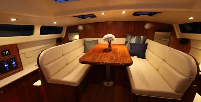 Preowned Sail Catamarans for Sale 2013 Legacy 35 Layout & Accommodations