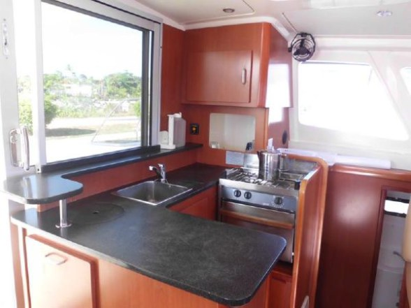Used Sail Catamaran for Sale 2011 Leopard 38 Galley