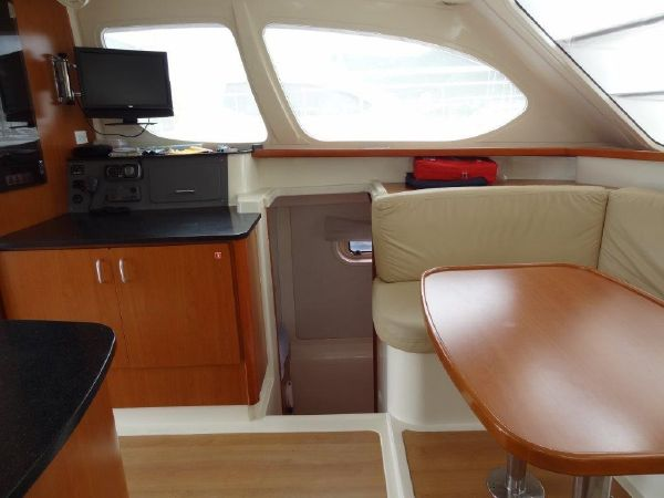 Preowned Power Catamarans for Sale 2009 Leopard 37 PC Layout & Accommodations