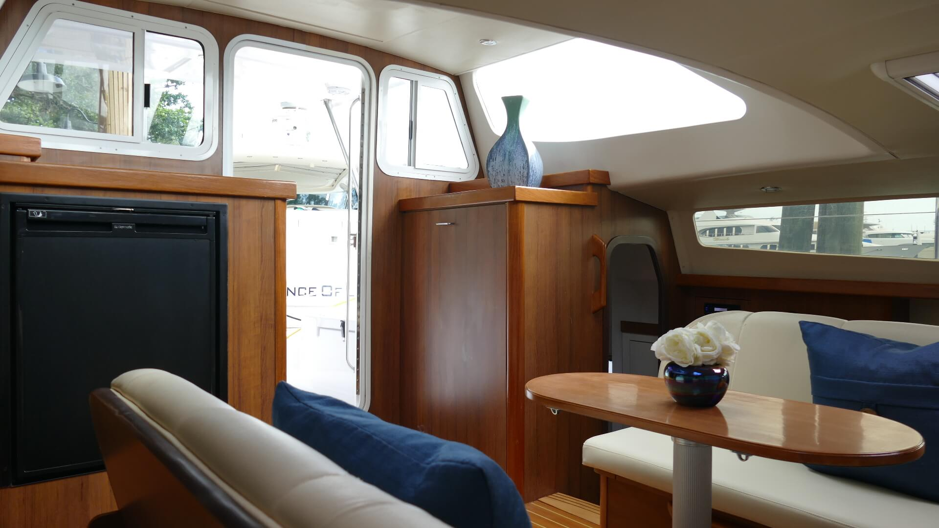 Used Sail Catamaran for Sale 2016 Legacy 35 Layout & Accommodations