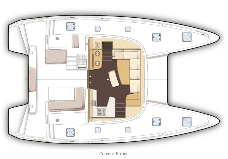 New Sail Catamarans for Sale 2017 Lagoon 42 Layout & Accommodations