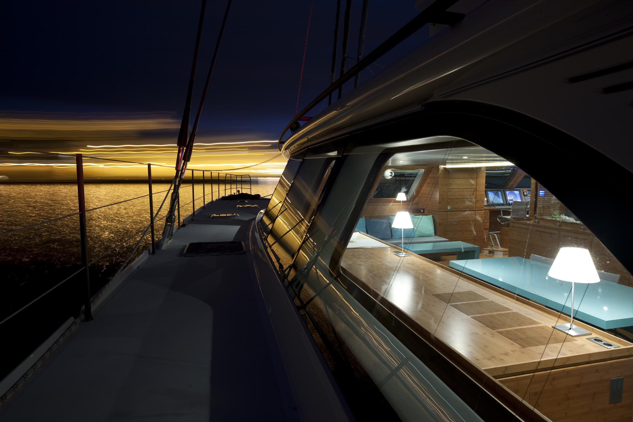 Launched Sail Catamaran for Sale  Sunreef 114 Deck & Equipment