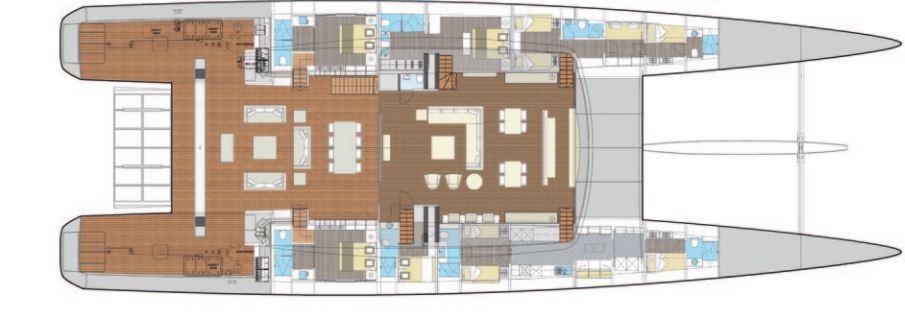 Custom Sail Catamarans for Sale  Van Peteghem - Lauriot Prevost 146 Custom Boat Highlights