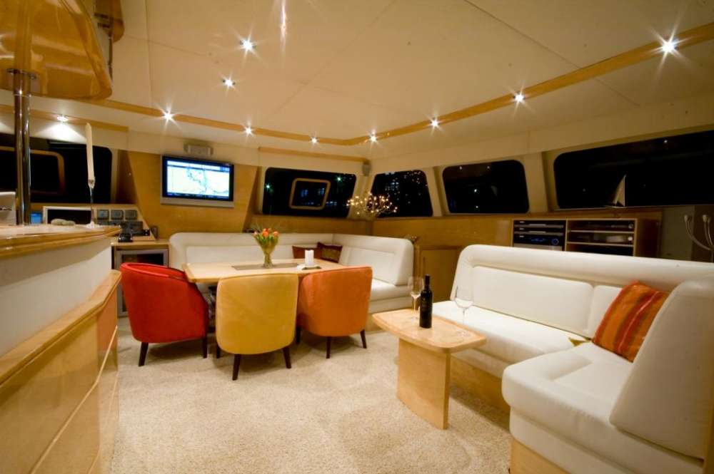 Used Sail Catamaran for Sale 2006 Sunreef 62 Layout & Accommodations
