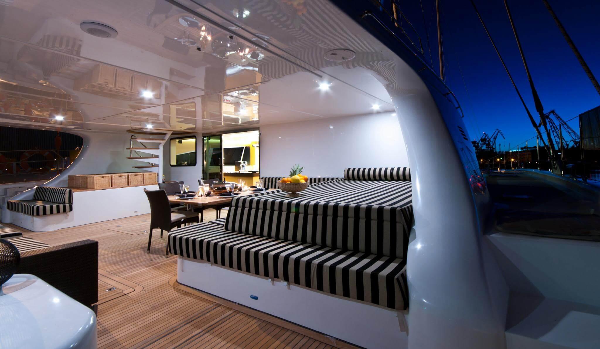 Launched Sail Catamaran for Sale  Sunreef 102 DD Deck & Equipment