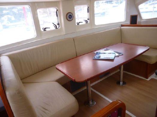 Preowned Sail Catamarans for Sale 2011 Leopard 38 Layout & Accommodations
