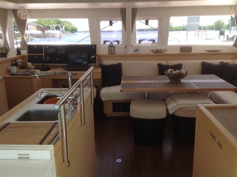 Preowned Sail Catamarans for Sale 2012 Lagoon 450 Layout & Accommodations