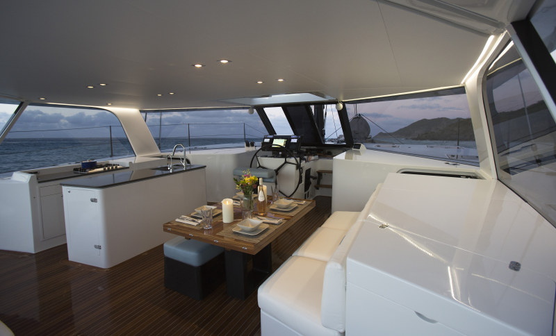 Preowned Sail Catamarans for Sale 2015 Gunboat 55 Layout & Accommodations