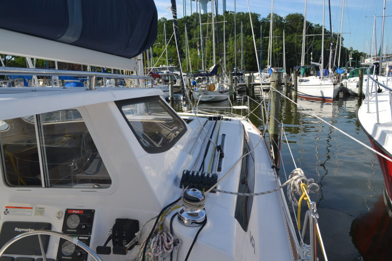 Preowned Sail Catamarans for Sale 2013 Legacy 35 Deck & Equipment