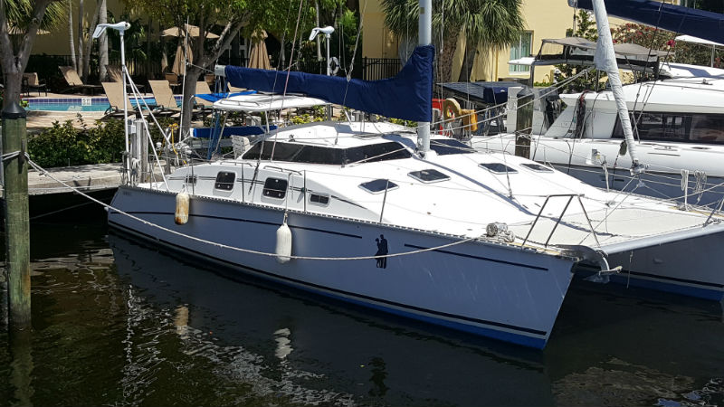 Preowned Sail Catamarans for Sale 1998 PDQ 36 LRC Boat Highlights
