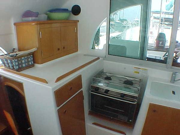 Preowned Sail Catamarans for Sale 2001 Lagoon 380 Galley