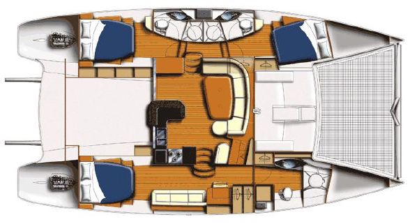 Preowned Sail Catamarans for Sale 2011 Leopard 46  Layout & Accommodations