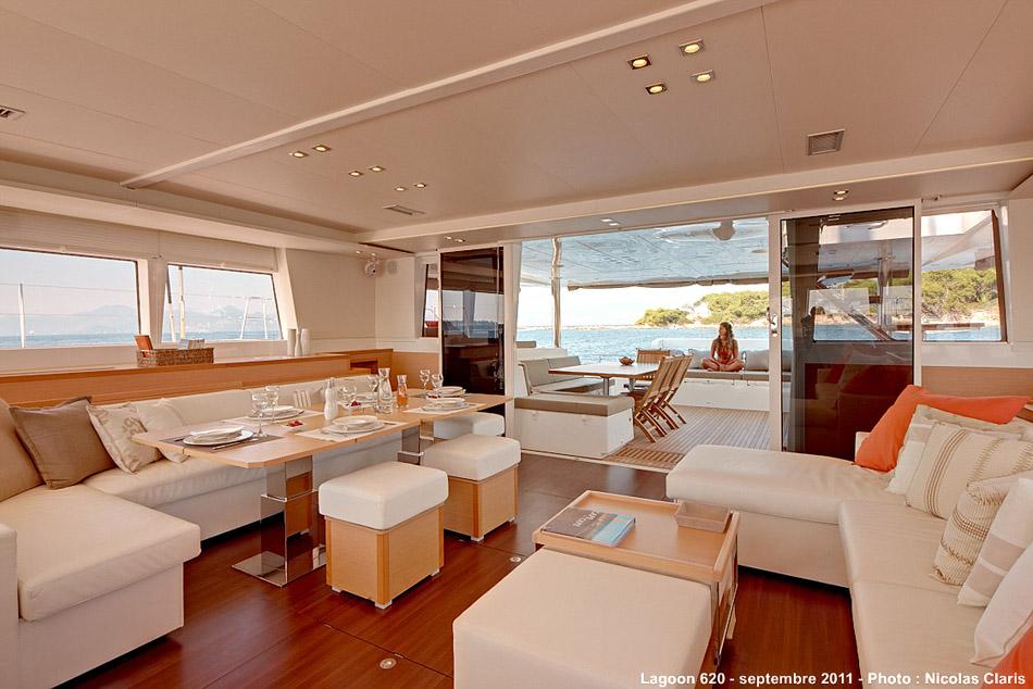 New Sail Catamaran for Sale 2016 Lagoon 620  Layout & Accommodations