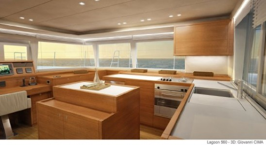 New Sail Catamaran for Sale 2017 Lagoon 560 S2 Galley