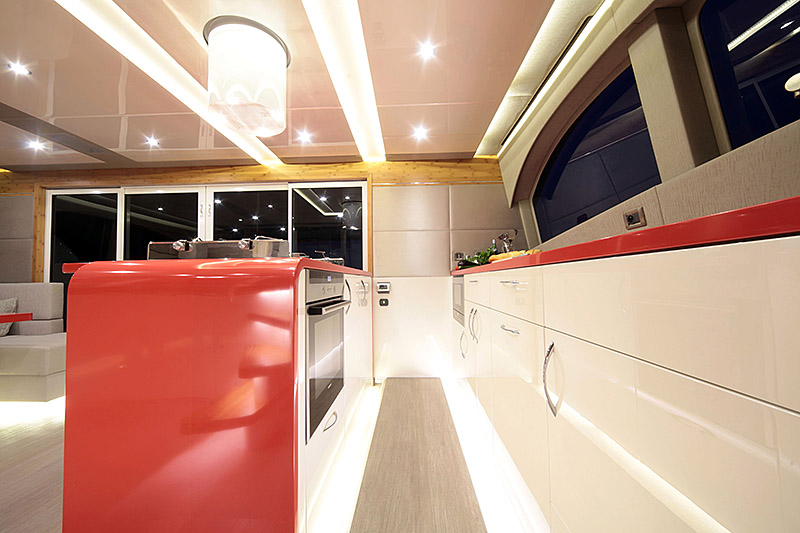 Launched Power Catamaran for Sale  60 Sunreef Power Boat Highlights
