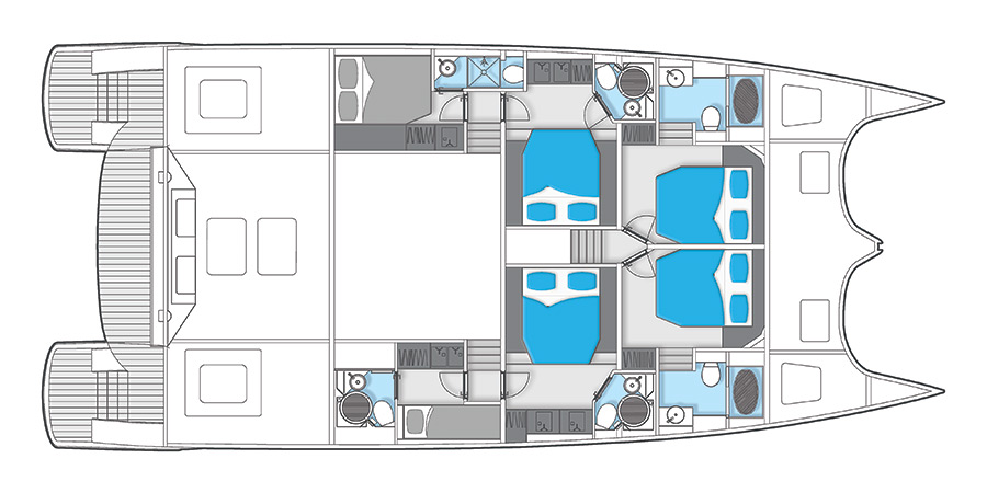 Launched Power Catamarans for Sale  60 Sunreef Power Boat Highlights