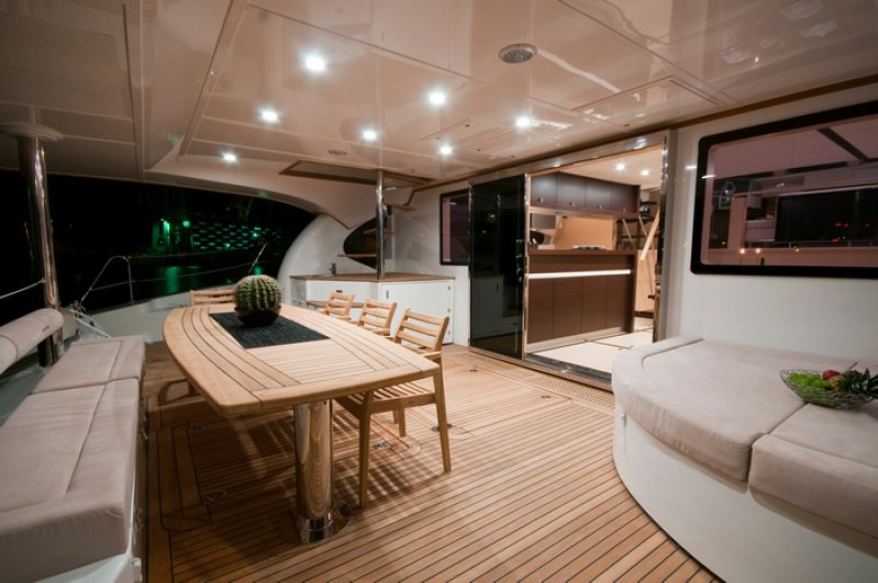 Launched Power Catamaran for Sale  70 Sunreef Power Boat Highlights