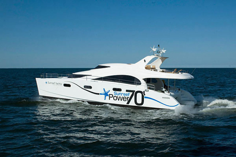 Launched Power Catamarans for Sale  70 Sunreef Power Boat Highlights