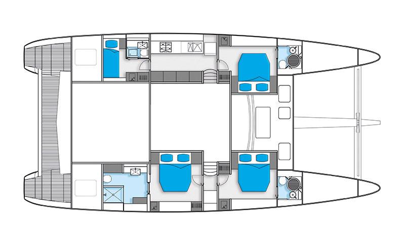 Launched Sail Catamaran for Sale  Sunreef 60 Loft Boat Highlights