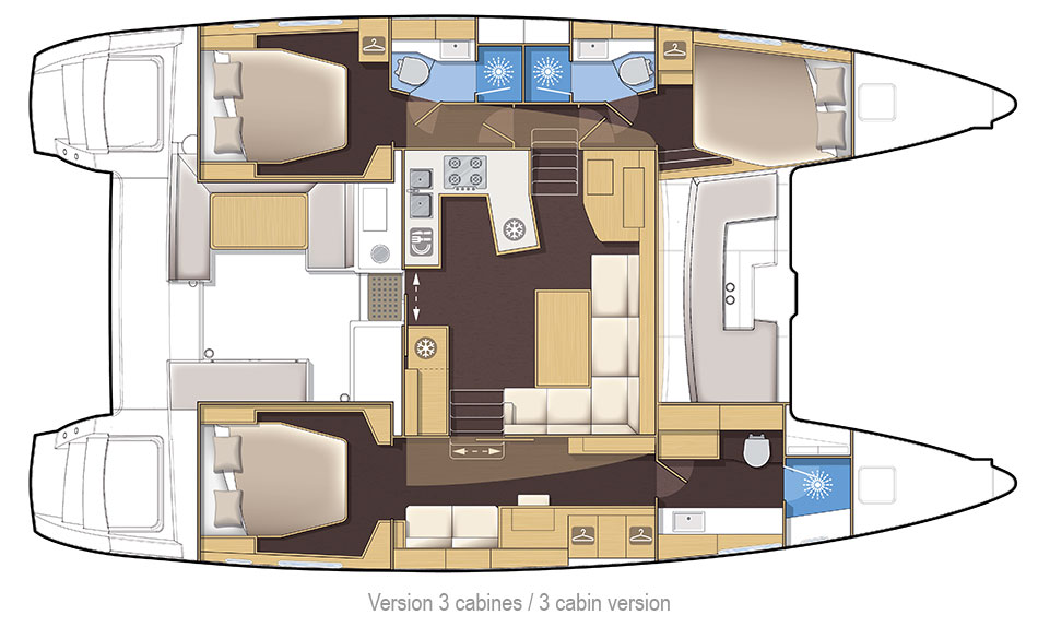 New Sail Catamarans for Sale 2018 Lagoon 450 Layout & Accommodations