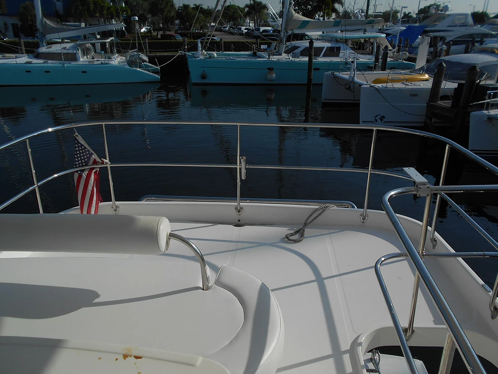 Used Power Catamaran for Sale 2009 Leopard 37 PC Deck & Equipment