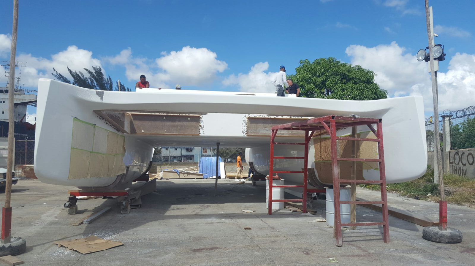 New Sail Catamaran for Sale  Day Charter 50 Deck & Equipment