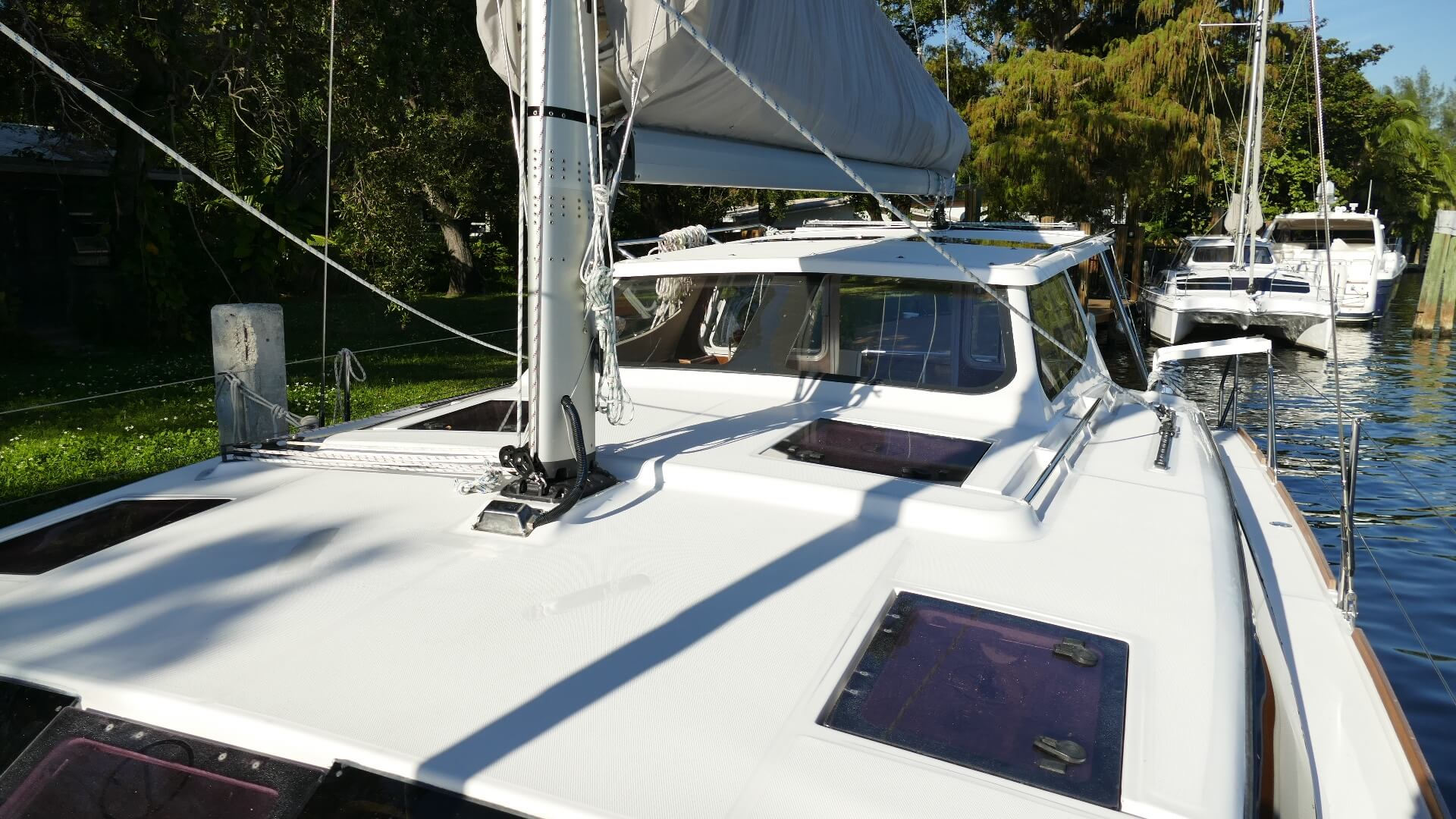 Used Sail Catamarans for Sale 2013 Legacy 35 Deck & Equipment