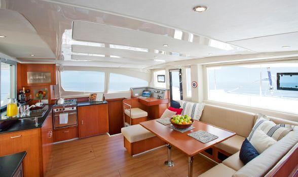 Preowned Sail Catamarans for Sale 2013 Leopard 48 Layout & Accommodations