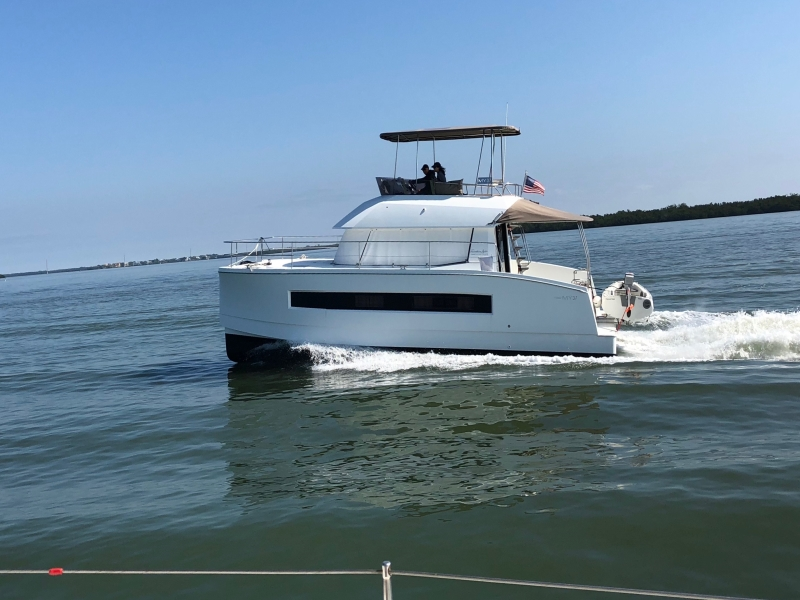 Used Power Catamarans for Sale 2017 MY 37 Boat Highlights