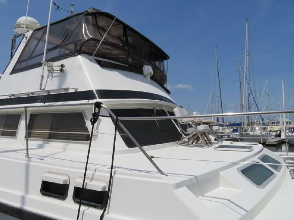 Used Power Catamarans for Sale 1985 C&C Logical 46 Boat Highlights
