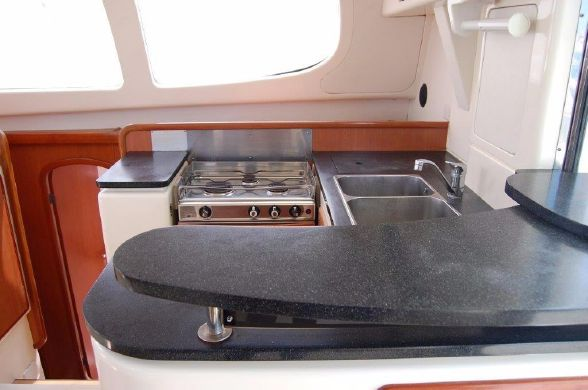 Preowned Sail Catamarans for Sale 2008 Leopard 40 Galley