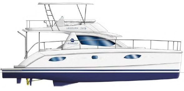 Used Power Catamarans for Sale 2013 Leopard 39 PC Additional Information