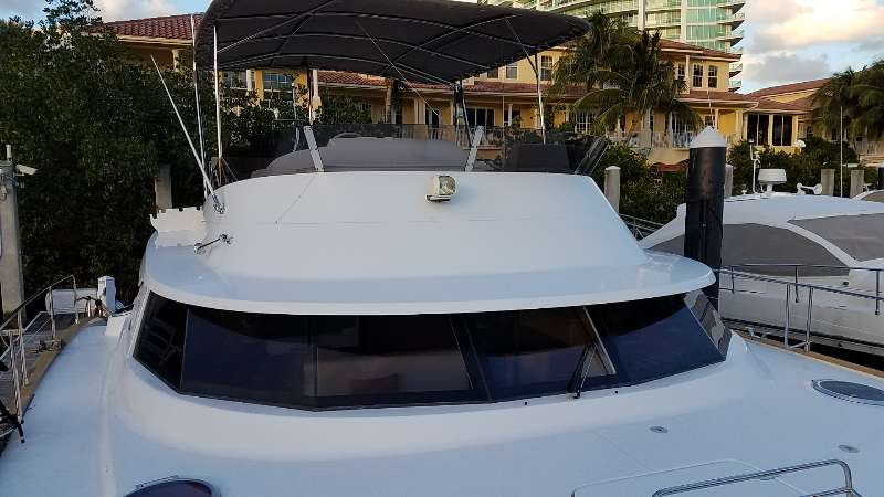 Preowned Power Catamarans for Sale 2014 Cumberland 47 LC Deck & Equipment