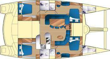 Preowned Sail Catamarans for Sale 2011 Prout 50S Layout & Accommodations