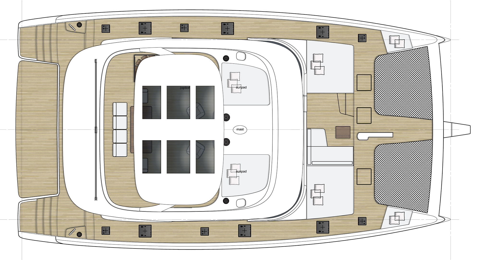 New Sail Catamaran for Sale  Sunreef 60 Layout & Accommodations