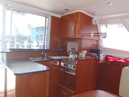 Preowned Sail Catamarans for Sale 2014 Leopard 39 Galley