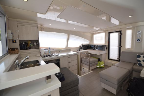 Preowned Sail Catamarans for Sale 2015 Leopard 48 Galley