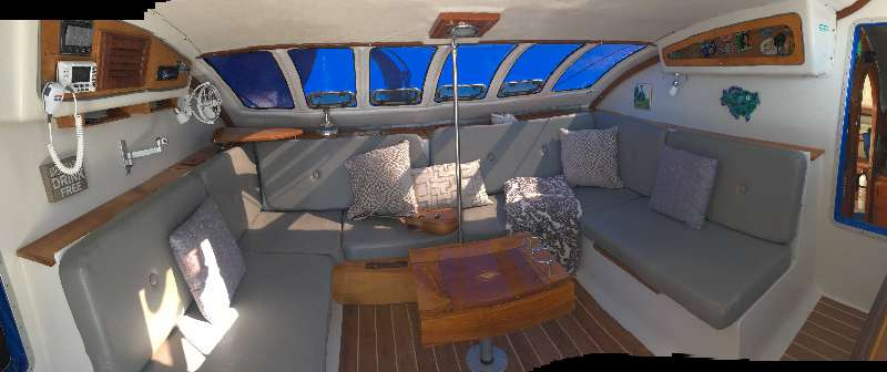 Preowned Sail Catamarans for Sale 1987 Blue II Layout & Accommodations
