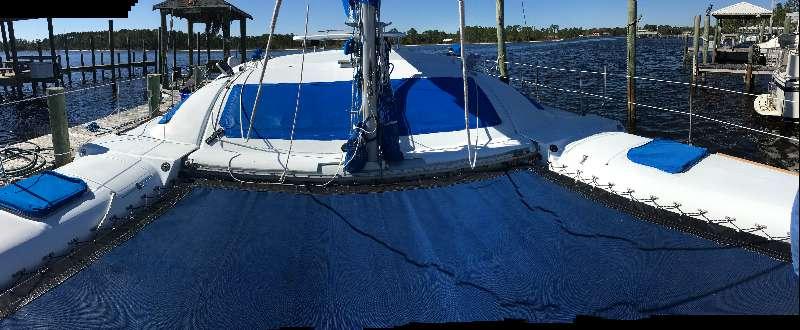 Preowned Sail Catamarans for Sale 1987 Blue II Deck & Equipment