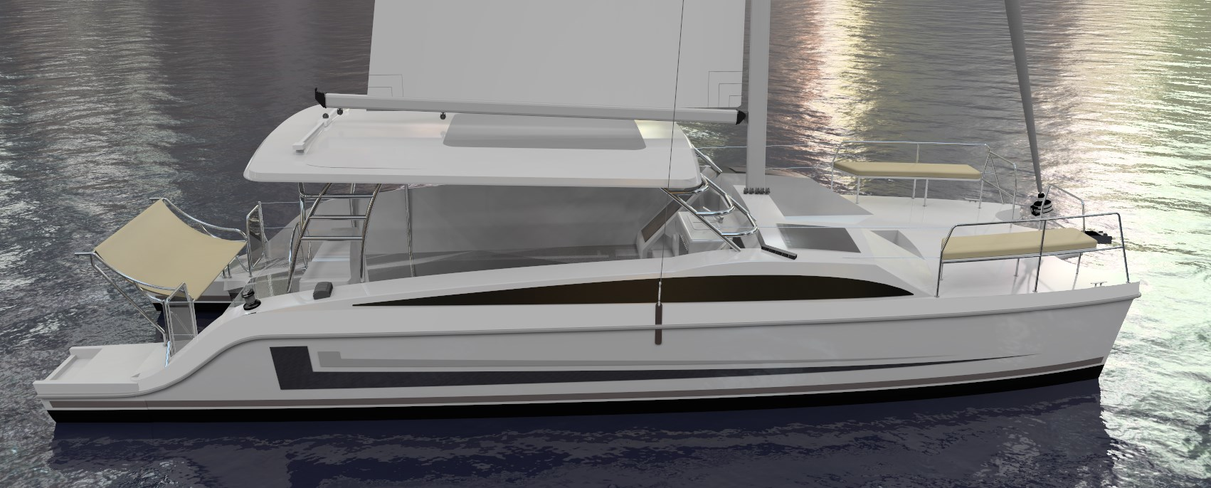 New Sail Catamaran for Sale  Freestyle 37 Boat Highlights