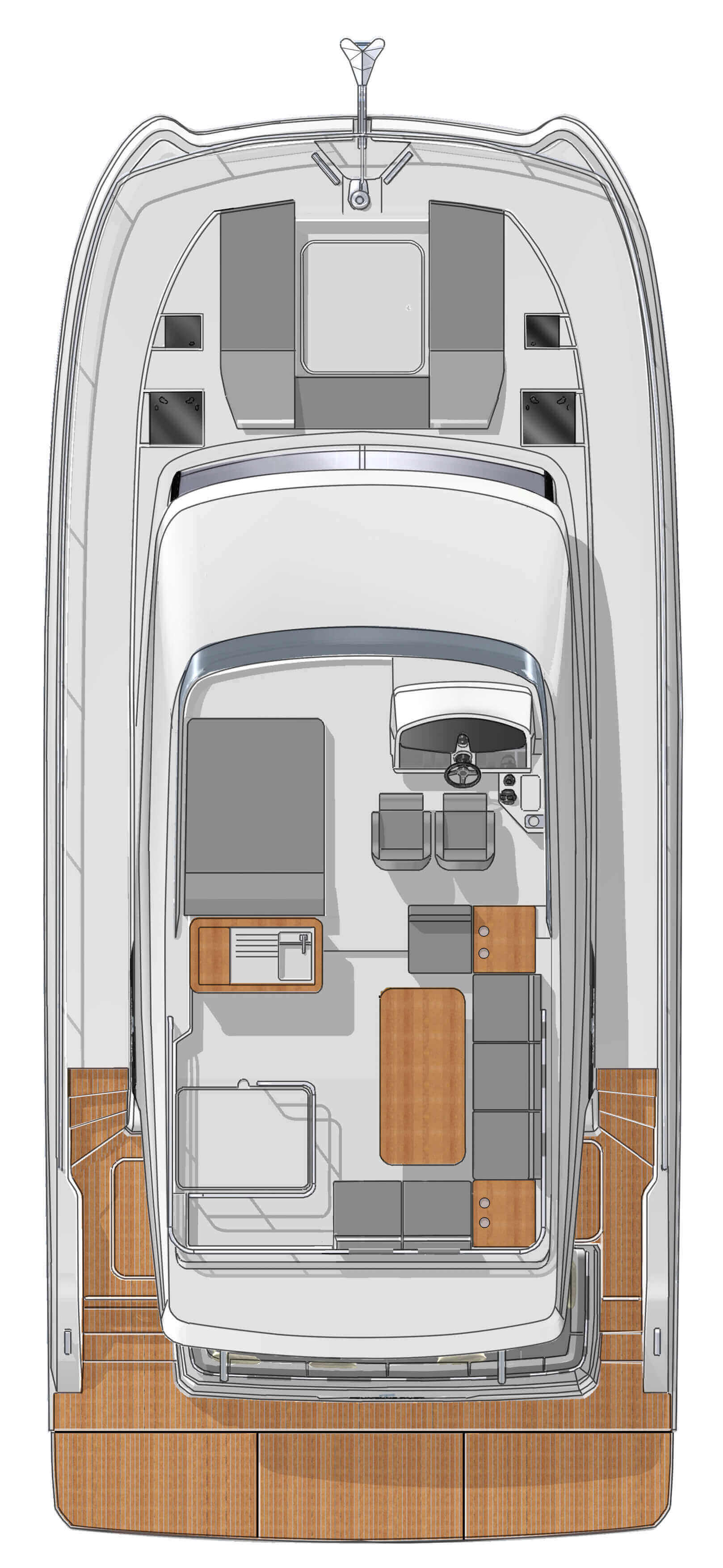 New Power Catamaran for Sale 2020 MY 40 Layout & Accommodations