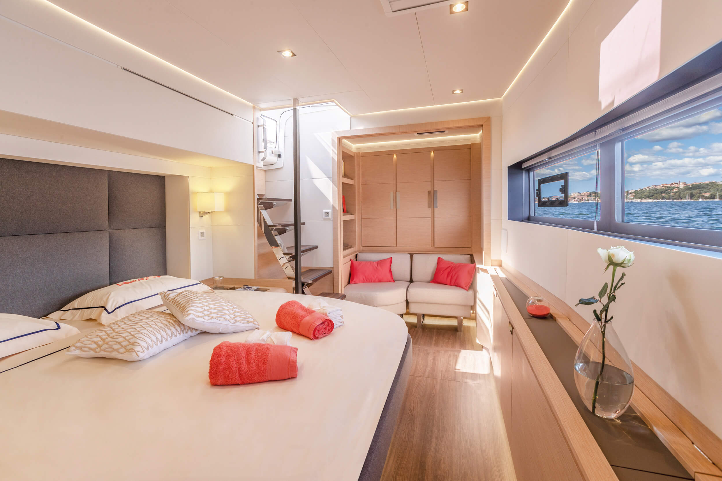 New Sail Catamarans for Sale  Alegria 67 Layout & Accommodations