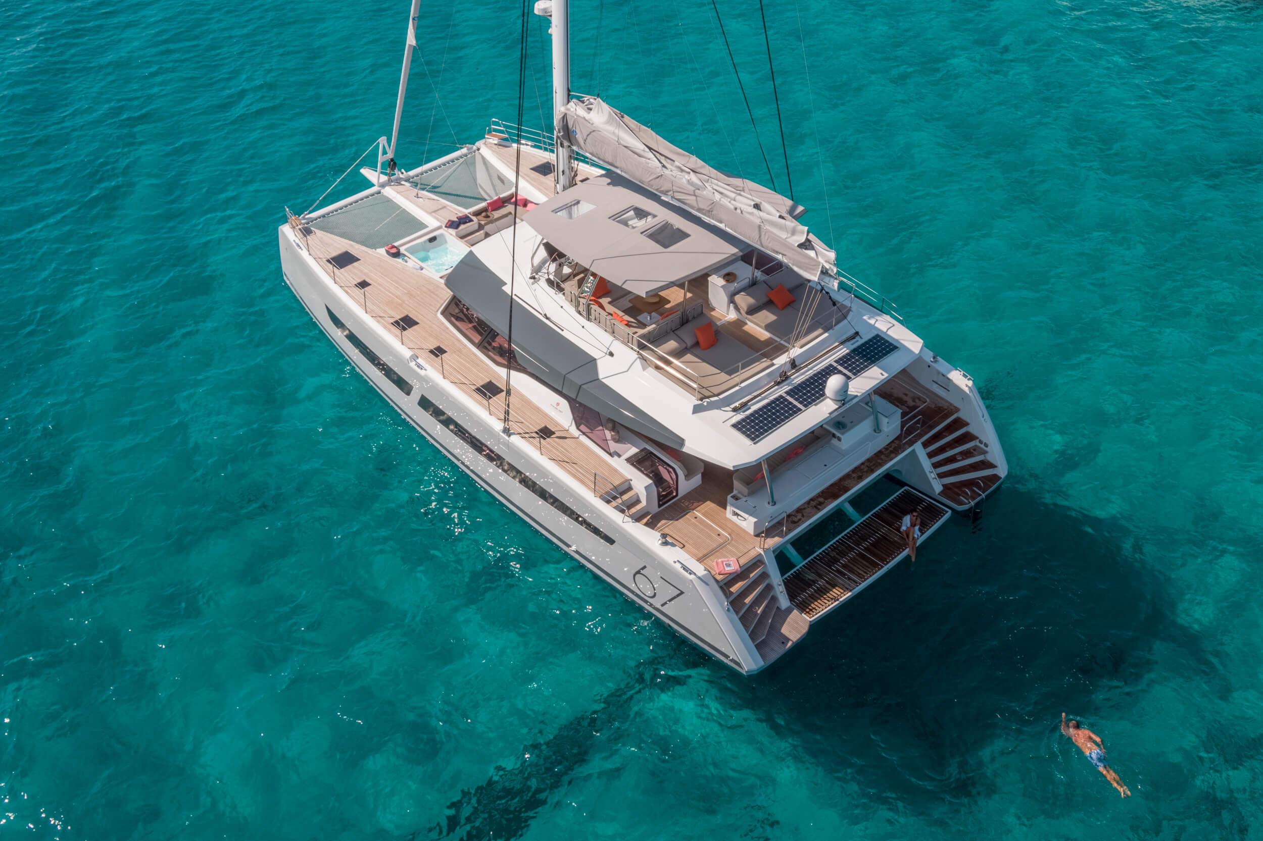 New Sail Catamaran for Sale  Alegria 67 Boat Highlights
